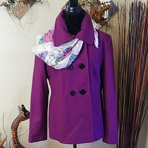 NWT Attention Purple Coat Sz XL